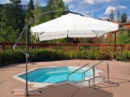Square Cantilever Patio Umbrella by Best Cantilever Patio Umbrellas With Pictures Three Dimensions Lab