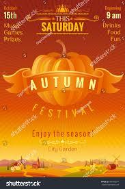 fall party invitation design harvest festival stock vector
