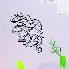 wall decals hairdressing hair beauty salon decal vinyl sticker zoom