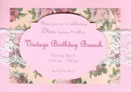 birthday brunch invitations s 11th birthday vintage birthday brunch invitation