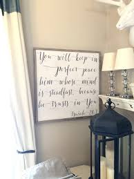 you will keep in peace framed wood sign christian home