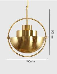 Sphere Ceiling Light Buy Half Sphere Industrial Style Gold Pendant Light At Lifeix