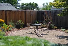 flossy pea gravel patio plus patio furniture also landscape along