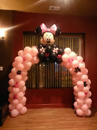minnie mouse arch for a baby shower balloon decoration m u0026s