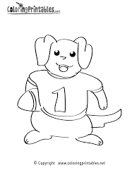 football player coloring page a free sports coloring printable