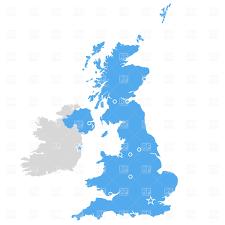 map uk and irelandmap uk counties map uk vector county map of britain and ireland royalty free