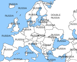 Blank Russia Map by Russian Government Admits Detaining Estonian Security Official
