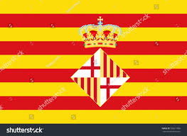 Flag Capital Flag Barcelona Capital Largest City Catalonia Stock Vector
