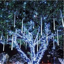 80cm drop icicle snow fall string led tree