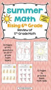 summer math for rising 6th graders review of 5th grade math