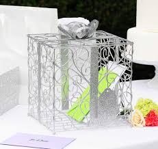 silver wedding card holder wedding card holder