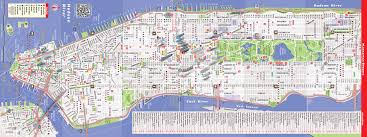 map of nyc downtown nyc map major tourist attractions maps