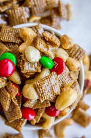 sticky sweet and salty chex mix the food charlatan