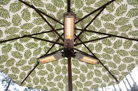 Floor Standing Electric Patio Heater by Fire Sense Umbrella 1500 Watt Electric Hanging Patio Heater