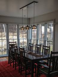 dining room pendant height lighting your dining tabledesigning