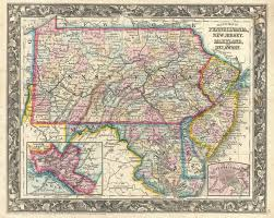 Map Pennsylvania by File 1863 Mitchell Map Of Pennsylvania New Jersey Delaware And
