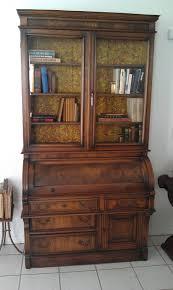 Old Roll Top Desk Antique Secretary Desk Bookcase Very Fine 1870 1900 Roll Top Desk