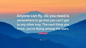 you can fly faith ringgold quote anyone can fly all you need is somewhere to