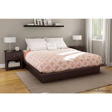South Shore Bedroom Furniture By Ashley South Shore Step One King Size Platform Bed In Chocolate 3159248