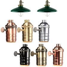 Pendant Light Socket E27 Light Socket Vintage Edison Pendant Lamp Holder With Knob 110