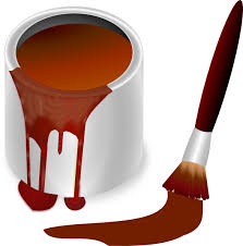 brown paint brown paint with paint brush clip art at clker com vector clip art