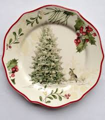my christmas dishes deer in snow salad plate set of 4