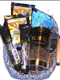 coffee gift basket fair trade organic coffee gift basket with a press coffee
