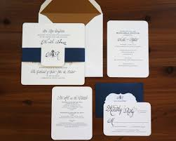 wedding invitations navy navy and gold wedding invitation dodeline design