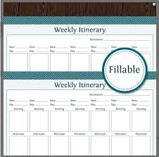 family vacation planner template 10 itinerary template examples templates assistant weekly itinerary for traveling