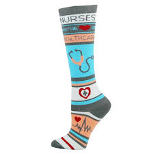 nurses are the heart of healthcare womens compression socks for
