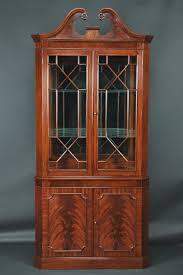 narrow wood bookcase china cabinet small narrow mahogany corner china cabinet antique