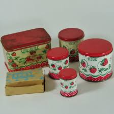 vintage kitchen canister sets vintage wolverine child s tin kitchen canister set bread box