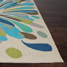 Indoor Outdoor Patio Rugs by Jaipur Rugs Colours Flowerburst 2 X 3 Indoor Outdoor Rug Blue