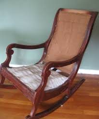 Antique Pressed Back Rocking Chair How To Reupholster U0026 Paint A Rocking Chair Part 1 Prodigal Pieces
