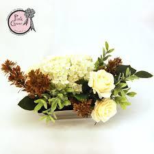 Reath Design Cream U0026 White Delight Arrangement U2013 Pink Clover Wreath Company