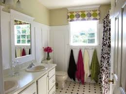 Clawfoot Tub Bathroom Design Ideas Bathroom With Stripes Walls And Shower Curtain Also Using Orange