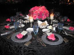 Elegant Table Settings by Pictures Of Pink Black Weddings Google Search Wedding