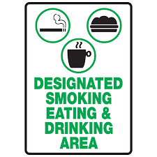 designated smoking eating u0026 drinking area the nobutts bin company