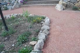 diy garden path u2013 gardening in a drought
