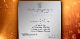 royal wedding invitation ontario scores invitation to royal wedding news ebl