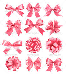 pink bows big set of pink gift bows and ribbons by almoond graphicriver