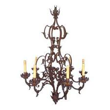Antique Iron Chandeliers Vintage U0026 Used Brown Chandeliers Chairish