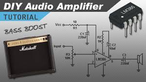 2 1 home theater circuit diagram make a great sounding lm386 audio amplifier with bass boost youtube