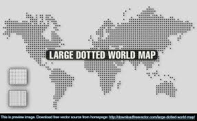 Black World Map by Large Dotted World Map Free Vector 123freevectors