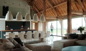 modern barn kitchen barn conversion in cotswold by mclean quinlan architects interiors