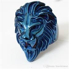 ceramic lion ring holder images Newest personal design blue lion king ring 16l stainless steel jpg