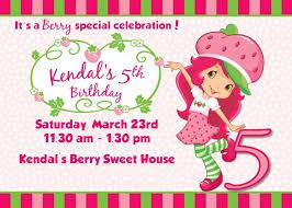printable birthday invitations strawberry shortcake strawberry shortcake birthday party deserts printables ideas