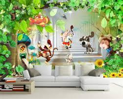 monkey wallpaper for walls custom 3d wallpaper kids room background decorative mural monkey