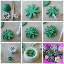 Polymer Clay Home Decor Mini Succulents Pictorial I Have These Cutters Must Try This