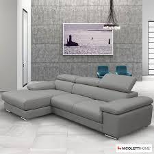 Costco Sofa Leather Nicoletti Lipari Grey Leather Sofa Chaise Left Facing Costco Uk